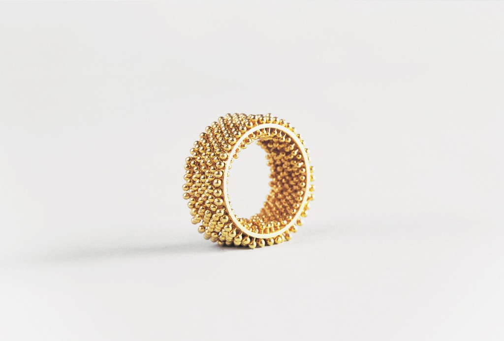 Igelring. Gold 750